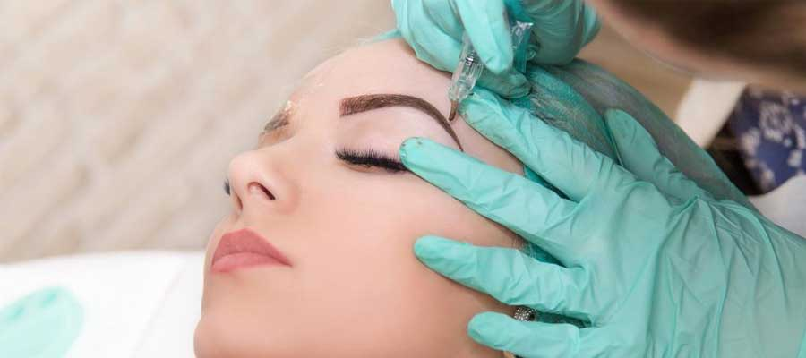 eyebrow embroidery procedure